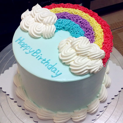 金塔彩虹蛋糕:缤纷彩虹