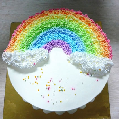英山彩虹蛋糕:半弯彩虹