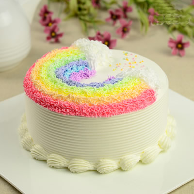 金塔彩虹蛋糕:悬浮彩虹