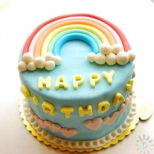 友谊彩虹蛋糕:魅力彩虹