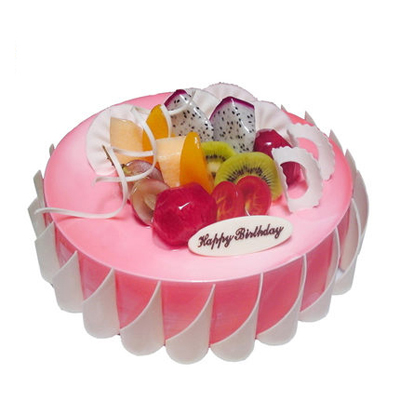 双鸭山岭东区双鸭山岭东区生日蛋糕-粉色甜蜜